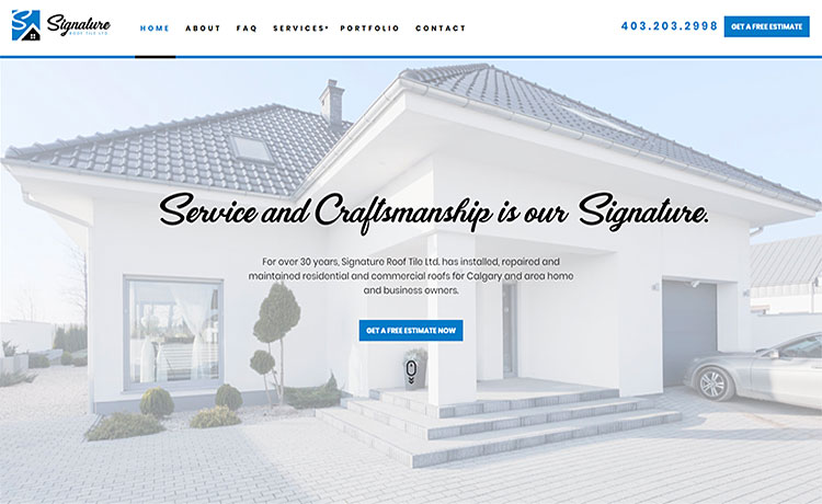 signature-roofing-calgary-website-design