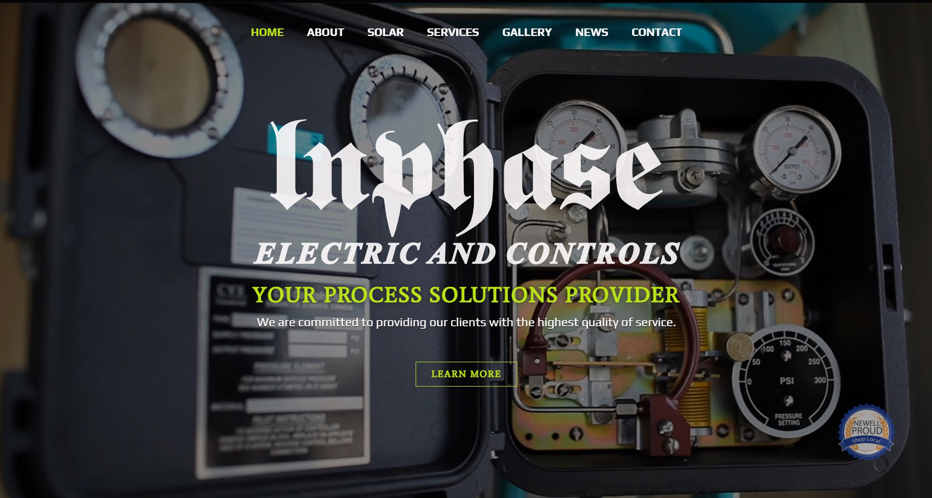 The New, Improved and Neon Website for Inphase Electric and Controls