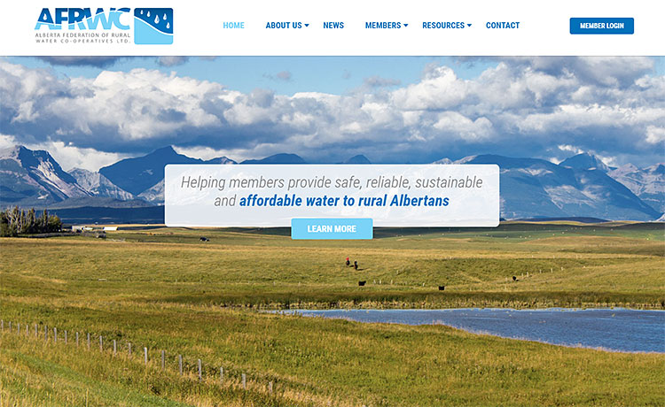 A Refreshing New Web Design for the Alberta Federation of Rural Water Co-Operatives Ltd.