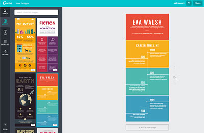 canva how to create own inforgraphic
